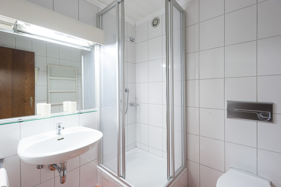 Bright bathrooms in each room